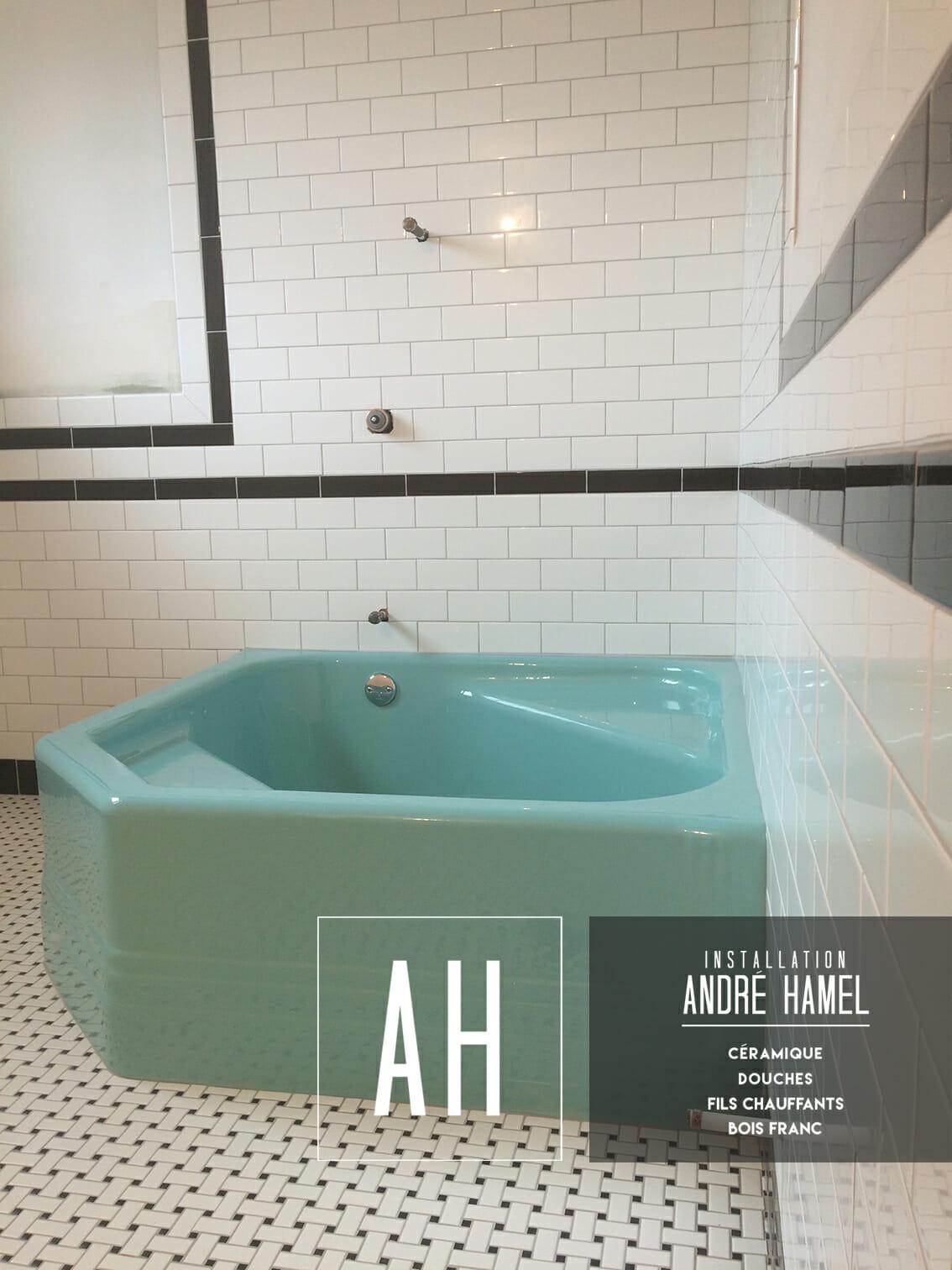 Salle de bain vintage installation de c ramique for Salle de bain installation